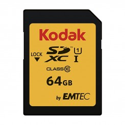 MEMORY 64GB SD KODAK CLASS 10 U1