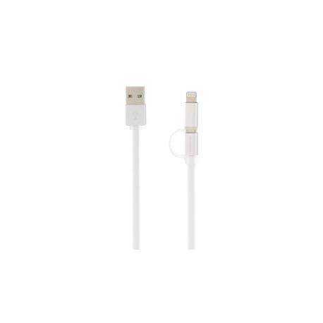کابل تبدیل USB به microUSB/لایتنینگ کینگ استار مدل KS48 طول 1متر