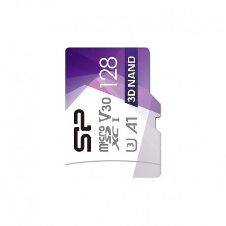 کارت حافظه microSDXC سیلیکون پاور مدل Superior Pro کلاس 10 استاندارد UHS-I U3 سرعت 100MBps ظرفیت 128 گیگابایت