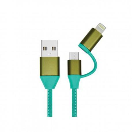کابل شارژ و ديتاي USB به اندرويد و اپل دوسر TCA 101
